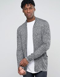 Jack And Jones Open Drape Knitted Cardigan Cloud Grey
