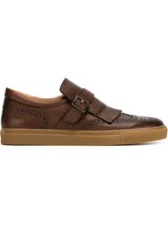 Henderson Baracco Brogue Style Sneakers Brown