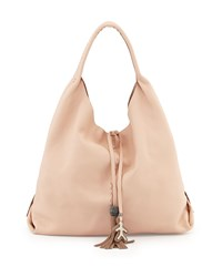 Draped Soft Leather Hobo Bag Cream Henry Beguelin Ivory