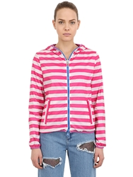 Invicta Reversible Nylon Windbreaker Jacket Fuchsia White Pink
