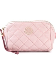 Moncler Quilted Beauty Case Pink And Purple