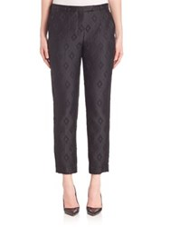 Max Mara Textured Diamond Cropped Trousers Black