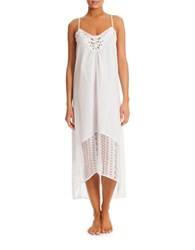 In Bloom Crossback Lace Nightgown White