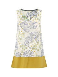 White Stuff Antigua Linen Jersey Vest Yellow