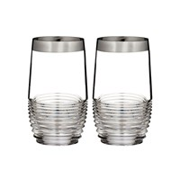 Waterford Circon Hiball Tumblers Set Of 2 Platinum Band