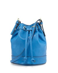 Neiman Marcus Sierra Drawstring Bucket Bag Cornflower