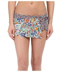 Tommy Bahama Provincial Skirted Hipster Multicolor Women's Swimwear