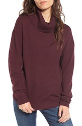 Women's Bp. Turtleneck Sweater Burgundy Stem