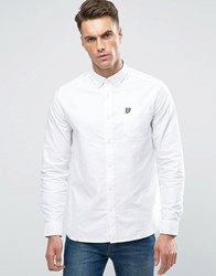 Lyle And Scott Buttondown Oxford Shirt In Regular Fit In White White