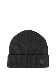 Dsquared Maple Leaf Patch Wool Beanie Hat