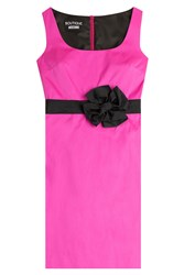 Boutique Moschino Cocktail Dress With Bow Sash Pink