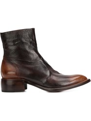 Silvano Sassetti Side Zip Boots Brown