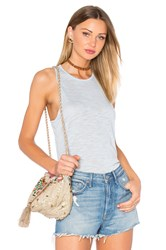 Bella Luxx Loose Fit Racer Tank Blue