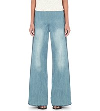 Free People Ramona Wide High Rise Jeans Back In Town Blue