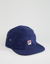 Fila Cap In Fleece With Box Logo Exclusive To Asos Navy
