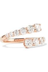 Anita Ko Twist 18 Karat Rose Gold Diamond Ring