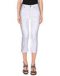 Burberry Brit Denim Denim Capris Women White