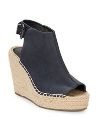 Kenneth Cole Olivia Sandal Wedges Navy Blue