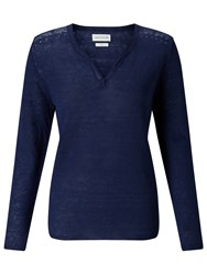 Harris Wilson Laura Linen Jumper Navy