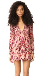 For Love And Lemons Saffron Mini Dress Sunset Floral