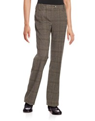 Calvin Klein Plaid Dress Pants Brown