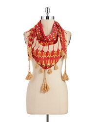 William Rast Nomadic Triangle Scarf Coral
