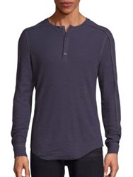 Vince Long Sleeve Thermal Knit Henley Pewter