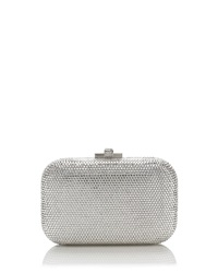 Judith Leiber Couture Crystal Slide Lock Clutch Bag Rhine