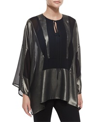 Just Cavalli Metallic Tie Neck Bib Tunic