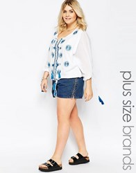 Alice And You Rope Side Denim Hotpants Blue