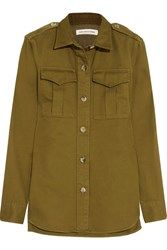 Etoile Isabel Marant Obrian Cotton Twill Shirt Army Green