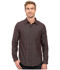 Royal Robbins Bristol Tweed Long Sleeve Shirt Petrified Oak Men's Long Sleeve Button Up Black