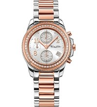 Thomas Sabo Glam And Soul Two Tone Zirconia Chronograph Watch