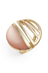 Women's Alexis Bittar 'Lucite Metal' Cocktail Ring Sunset