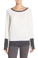 Alo Yoga Women's Alo Slouchy Long Sleeve Top Natural Heather Dark Grey