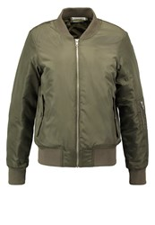 Noisy May Nmtrack Bomber Jacket Ivy Green Khaki