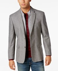 Tommy Hilfiger Men's Slim Fit Sport Coat With Removable Bib Insert Grey