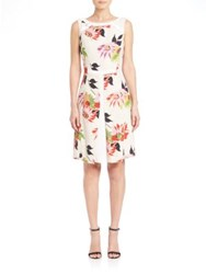 Etro Blossom Washed Tweed Dress White