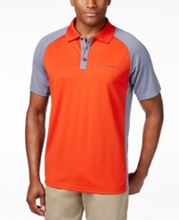 Columbia Men's Polo Shirt Orange