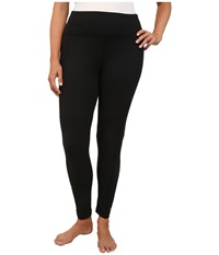 Marika Curves Plus Size High Rise Tummy Control Leggings Black Women's Workout