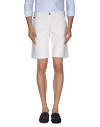 Manuel Ritz White Trousers Bermuda Shorts Men