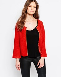 Traffic People Peak Jacket Burnt Orange