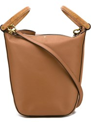 Tory Burch Double Top Handles Geometric Tote Bag With Shoulder Strap Nude And Neutrals