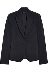 Theory Stretch Crepe Blazer Blue