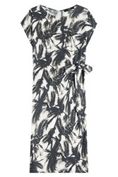 Steffen Schraut Palm Print Dress Multicolor