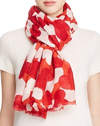 Lola Rose Hearts Wool Scarf Red Multi