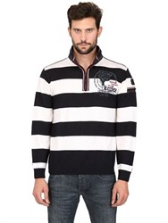 Paul And Shark Wool Striped Zipped Sweater