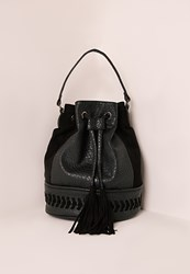 Missguided Whipstitch Duffle Bag Black Black