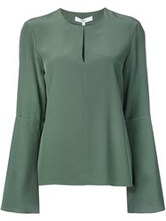 Tibi Longsleeved Blouse Green
