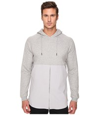 Publish Fedde Premium Heather Terry Hoodie With Fabric Blocked Bottom Zipper Closure Heather Men's Sweatshirt Gray